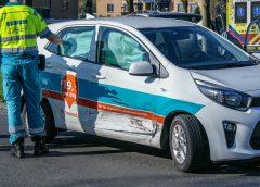 Auto's botsen in Hoogezand